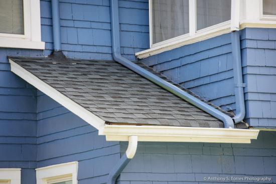 New Roof and Skylight Installation : Ashland Ave, Glen Ridge NJ - Overhang