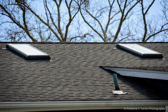 New Roof and Skylight Installation : Ashland Ave, Glen Ridge NJ - 2 Skylights