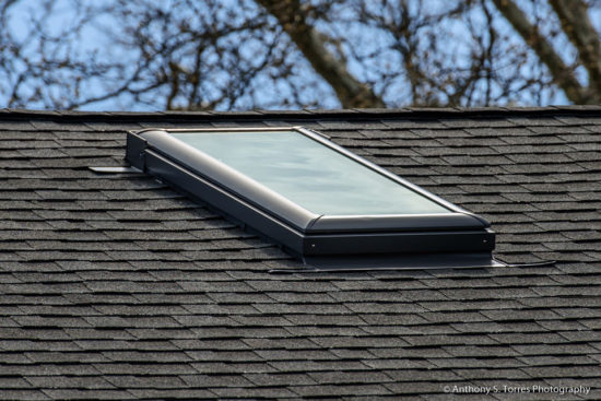 New Roof and Skylight Installation : Ashland Ave, Glen Ridge NJ - Skylight Closeup